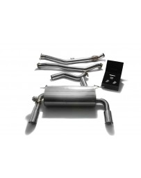 ARMYTRIX Stainless Steel Valvetronic Catback Exhaust System Dual Chrome Silver Tips BMW 335i GT F34 2013-2015