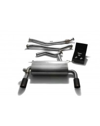 ARMYTRIX Stainless Steel Valvetronic Catback Exhaust System Dual Gold Tips BMW 335i GT F34 2013-2016