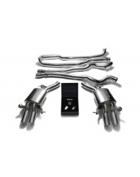 ARMYTRIX Stainless Steel Valvetronic Catback Exhaust System Quad Chrome Silver Tips BMW M6 F12 F13 2013-2019