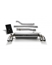 ARMYTRIX Stainless Steel Valvetronic Catback Exhaust System Quad Chrome Silver Tips BMW 550i G30 G31 2017-2020