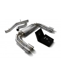 ARMYTRIX Stainless Steel Valvetronic Catback Exhaust System Quad Chrome Silver Tips Audi S3 8V Sportback 13-20
