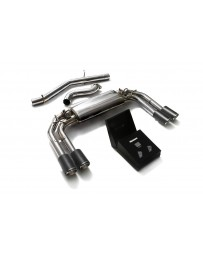 ARMYTRIX Stainless Steel Valvetronic Catback Exhaust System Quad Carbon Tips Audi S3 8V Sportback 2013-2020