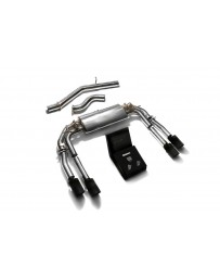 ARMYTRIX Stainless Steel Valvetronic Catback Exhaust System Quad Matte Black Tips Audi S3 8V Sedan 2.0 Turbo 13-20
