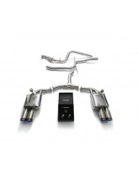 ARMYTRIX Stainless Steel Valvetronic Catback Exhaust System Quad Blue Coated Tips Audi A4 A4 Avant 2.0L TFSI B9 2016-2020