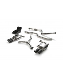 ARMYTRIX Stainless Steel Valvetronic Catback Exhaust System Quad Carbon Tips Audi A5 Coupe 4WD B9 2016-2020