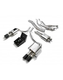 ARMYTRIX Stainless Steel Valvetronic Catback Exhaust System Quad Carbon Tips Audi S5 Coupe 3.0L V6 Turbo B9 17-20