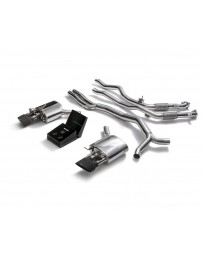 ARMYTRIX Stainless Steel Valvetronic Sport Catback Exhaust System w/Dual Matte Black Tips Audi RS5 B9 2D