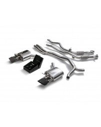 ARMYTRIX Stainless Steel Valvetronic Catback Exhaust System Dual Matte Black Tips Audi RS5 B9 Coupe 2.9 V6 Turbo 17-20