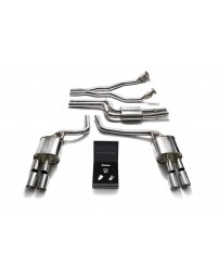ARMYTRIX Stainless Steel Valvetronic Catback Exhaust System Quad Chrome Silver Tips Audi A4/A5 S4/S5 3.0L TFSI 2009-2015