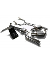 ARMYTRIX Stainless Steel Valvetronic Catback Exhaust System Quad Chrome Coated Tips Audi A6 A7 C7 3.0 TFSI V6 2011-2021