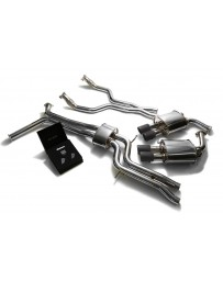 ARMYTRIX Stainless Steel Valvetronic Catback Exhaust System Quad Matte Coated Tips Audi A6 A7 C7 3.0 TFSI V6 2011-2021