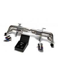 ARMYTRIX Titanium Valvetronic Exhaust System Dual Titanium Blue Tips Audi R8 V10 5.2L FSI 2014-2015