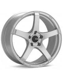 Enkei Kojin 18x8 32mm Offset 5x120 Bolt Pattern 72.6mm Bore Black Wheel Matte Silver