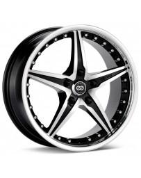 Enkei L-SR 18x8 5x112 Bolt Pattern 40mm Offset 72.6 Bore Dia Black Machined Wheel