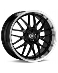 Enkei Lusso 18x7.5 42mm Offset 5x110 Bolt Pattern 72.6 Bore Dia Black w/ Machined Lip Wheel