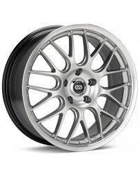Enkei Lusso 18x8 40mm Offset 5x120 Bolt Pattern 72.6 Hub Bore Hyper Silver w/ Machined Lip Wheel
