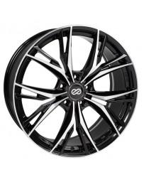 Enkei ONX 17x7.5 45mm Offset 5x100 Bolt Pattern 72.6 Bore Dia Black Machined Wheel