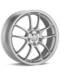 Enkei PF01 18x9 5x114.3 35mm Offset 75 Bore Dia Silver Wheel