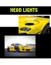 "Aim9 GT Mazda RX7 FD3s Headlights "" Air Eyes"""