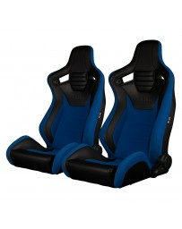 BRAUM ELITE-S SERIES RACING SEATS (BLACK - BLUE) – PAIR
