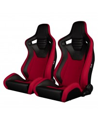 BRAUM ELITE-S SERIES RACING SEATS (BLACK - RED) – PAIR