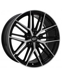 Enkei Phantom 18x8.0 5x112 45mm Offset 72.6mm Bore Black Machined Wheel