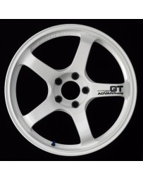 Advan Racing GT 18x12.0 +27 5-114.3 Racing White Wheel