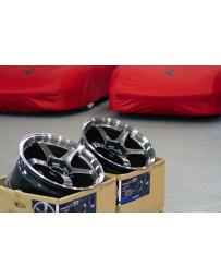 Advan Racing GT 18x10.5 +24 5-114.3 Machining & Racing Metal Black Wheel