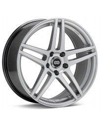 Enkei RSF5 18x8 45mm Offset 5x100 Bolt Pattern 72.6mm Bore Dia Hyper Silver Wheel
