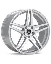 Enkei RSF5 16x7 38mm Offset 5x100 Bolt Pattern 72.6mm Bore Dia Silver Machined Wheel