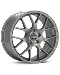 Enkei Raijin 18x8.5 35mm Offset 5x114.3 Bolt Pattern 72.6 Bore Dia Titanium Gray Wheel *Min Qty 60*