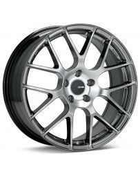Enkei Raijin 18x8.5 38mm Offset 5x120 Bolt Pattern 72.6 Bore Diameter Hyper Silver Wheel
