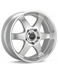 Enkei ST6 20 x 9.5 10mm Offset 6x139.7 Bolt Pattern 108.5mm Bore Dia Silver Machined Wheel