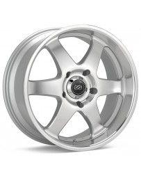 Enkei ST6 18x8.5 20mm Offset 6x139.7 Bolt Pattern 108.5 Bore Dia Silver Machined Wheel