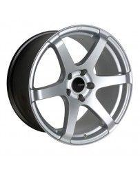 Enkei T6S 17x9 45mm Offset 5x114.3 Bolt Pattern 72.6 Bore Matte Silver Wheel