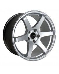Enkei T6S 18x8.5 42mm Offset 5x112 Bolt Pattern 72.6 Bore Matte Silver Wheel