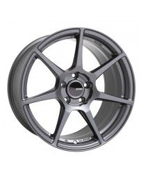 Enkei TFR 17x8 5x114.3 35mm Offset 72.6 Bore Diameter Matte Gunmetal Wheel