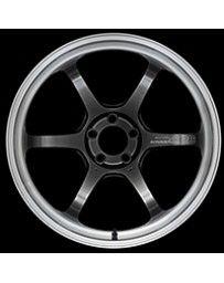 Advan Racing R6 18x7.5 +44 5-100 Machining & Racing Hyper Black Wheel