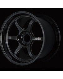 Advan Racing R6 18x7.5 +44 5-100 Racing Titanium Black Wheel