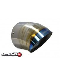 GReddy Burnt Titanium Turndown Tip 115mm Diameter 150mm Length (for Revolution RS / RS-TI / RS-Race)