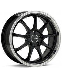 Enkei Tenjin 17x9 45mm Inset 5x114.3 Bolt Pattern 72.6mm Bore Diam Black Machined Wheel