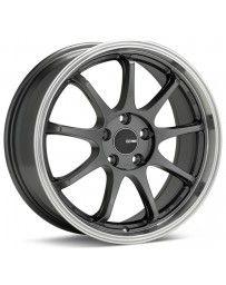 Enkei Tenjin 17x8 45mm Offset 5x114.3 Bolt Pattern 72.6mm Bore Dia Black Paint Wheel
