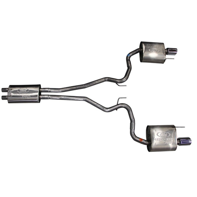 """Mustang 2015+ Ford Performance By Borla Cat-Back Exhaust System 2-1/2"""" EC-Type Stainless Steel With 4"""" Chrome Tips"""