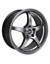Enkei VR5 18x8 45mm Offset 5x100 Bolt Pattern 72.6 Bore Dia Hyper Black Wheel