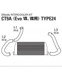 GReddy Spec-LS T-24 Intercooler Kit Mitsubishi VII / VIII 2001-2005