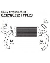 GReddy Type 23F Front Mount Intercooler Kit Nissan 300ZX Z32 1990-1999