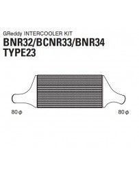 GReddy Type 23F Intercooler Kit Nissan Skyline GTR R32 1989-1994