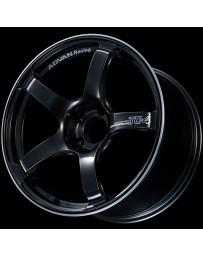 Advan Racing TC4 17x9 +45 5-114.3 Racing Black Gunmetallic and Ring Wheel