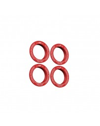 fifteen52 Holeshot RSR Center Ring - Corner Designation Set of Four - Red