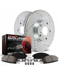 370z Z34 Power Stop 1-Click Z23 Evolution Sport Drilled and Slotted Rear Brake Kit 18-19